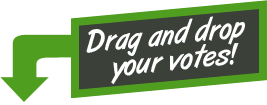 Drag and drop to vote